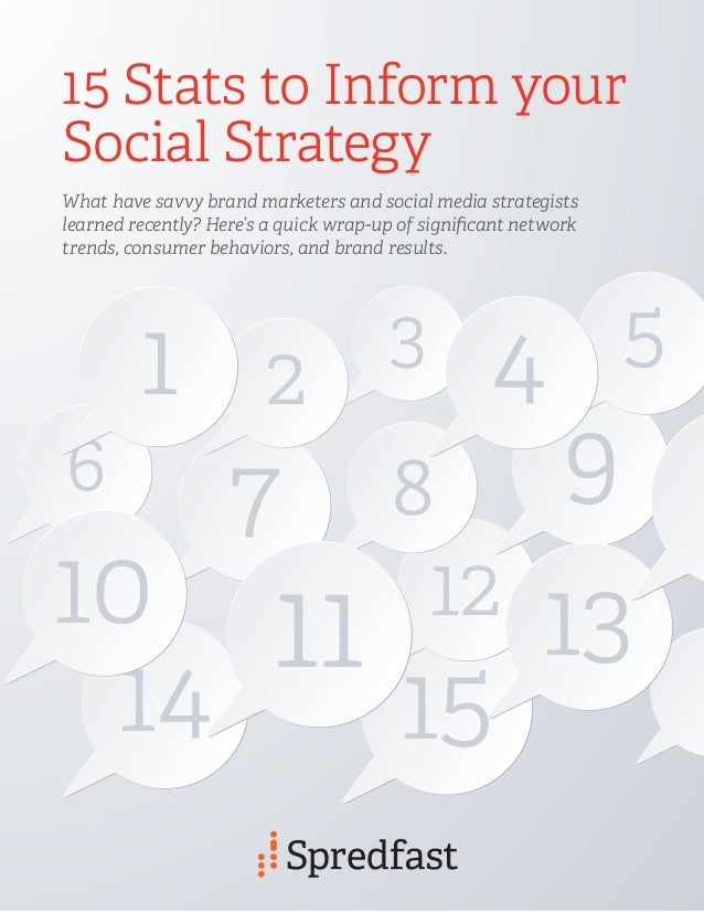 1514 7 9 1110 13 2 8 12 3 6 15 Stats to Inform your Social Strategy What have savvy brand marketers and social media strat...