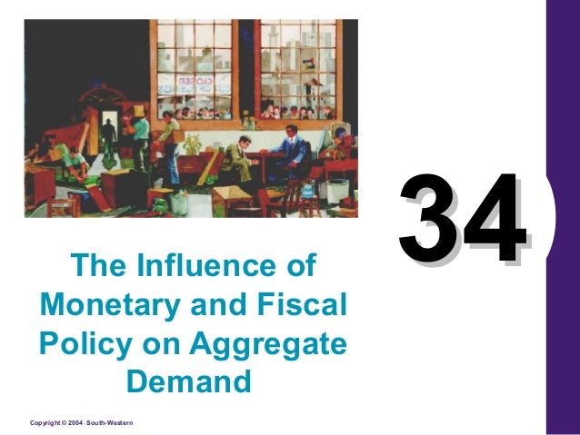 Copyright © 2004 South-Western 3434The Influence of Monetary and Fiscal Policy on Aggregate Demand