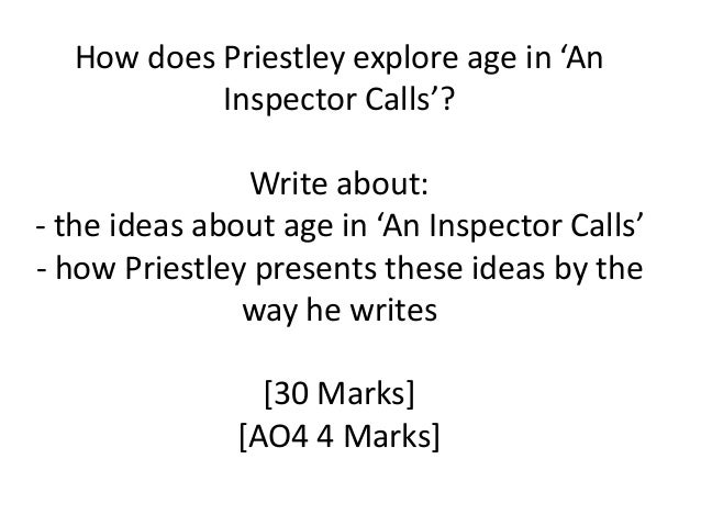 how does priestley express ideas about eric birling in an inspector calls essay Sheila birling asked for eva smith to be sacked from millwards (a clothing shop)   eric returns and confesses to being the father of eva/daisy's unborn child   gerald returns and announces that there is no 'inspector goole' at brumley   explain how priestley has used dramatic irony to present his ideas to the  audience:.