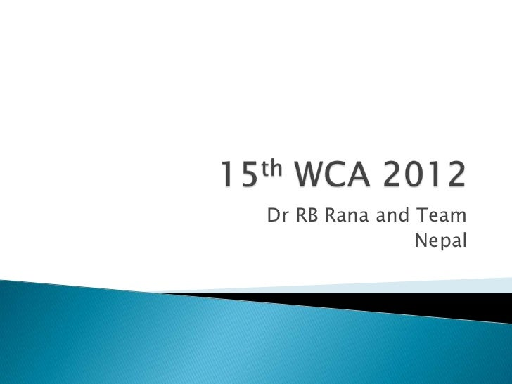 Dr RB Rana and Team               Nepal