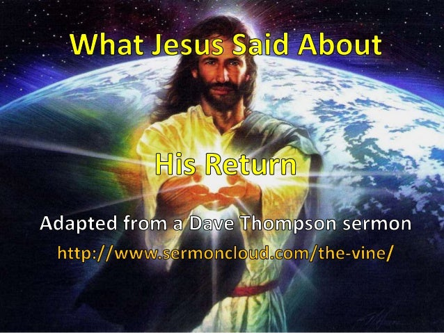 What Jesus Said About His Return