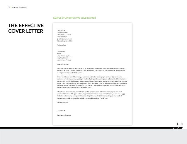 career forward the effective cover letter