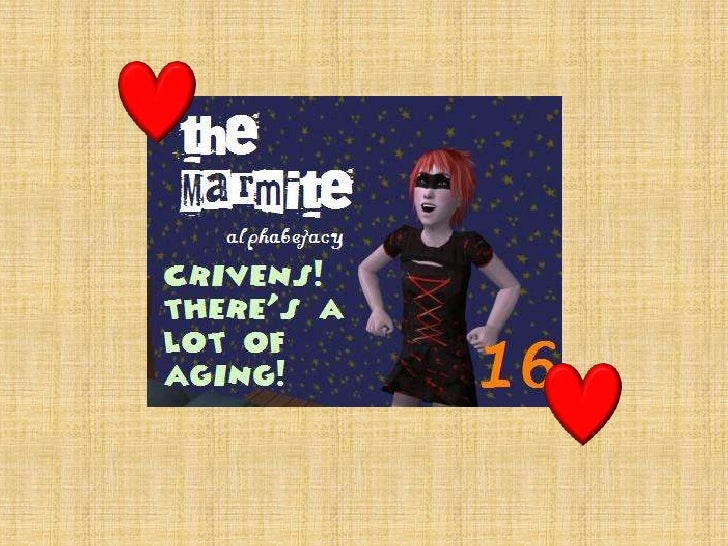The Marmite alphabetacy 16