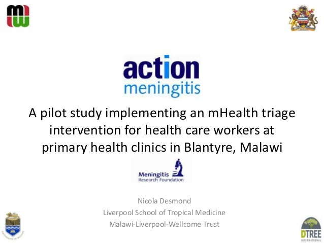 Implementing an mHealth triage intervention for health care workers at primary health centres in urban Blantyre, Malawi - a pilot study