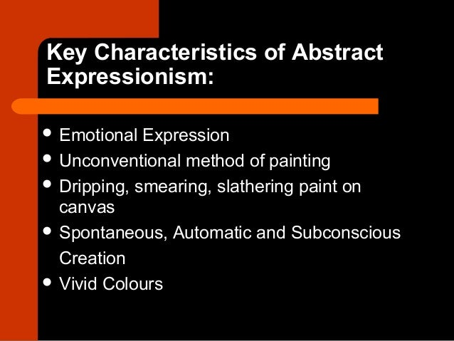 16 abstract expressionism