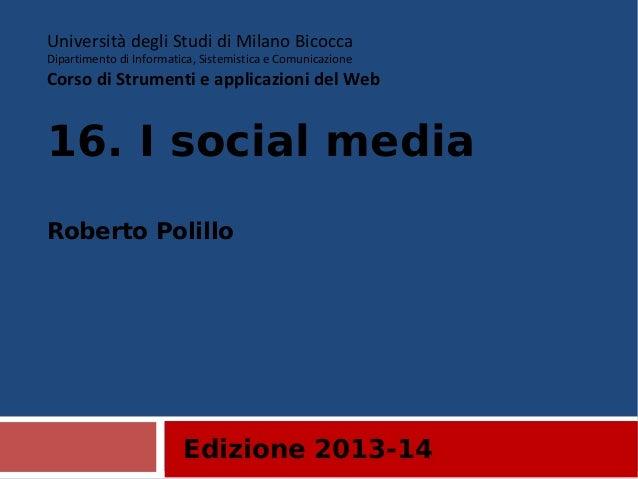 16. I social media