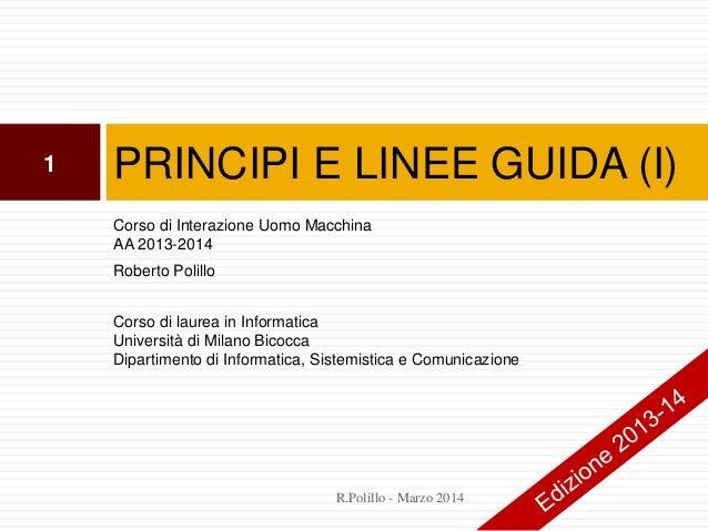 16. Principi e linee guida (i)