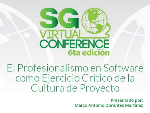 16 17 el profesionalismo en software como ejercicio crítico de la cultura de proyecto