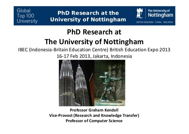 PhD Research Proposal at the University of Nottingham