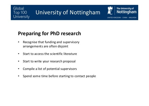 Research proposal writing service nottingham