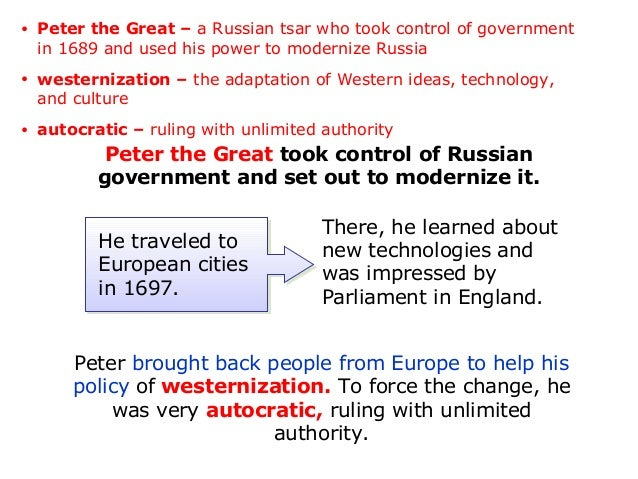 an analysis of absolutism and peter the great