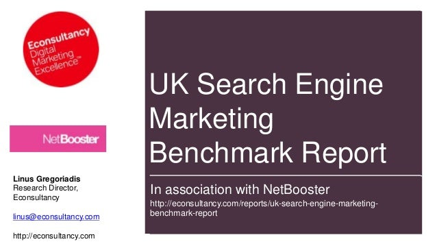 NetBooster & eConsultancy 2013 UK SEM benchmark report highlights