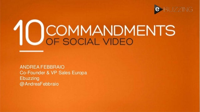 10 Commandments of Video Advertising