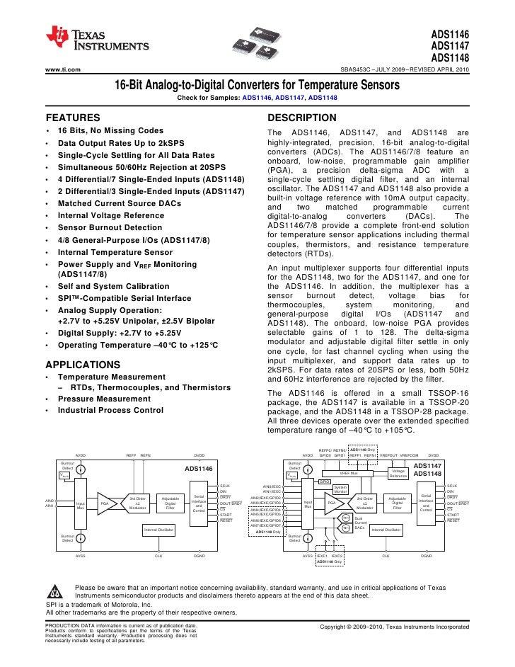 16 bit analog-to-digital converters for temperature sensors