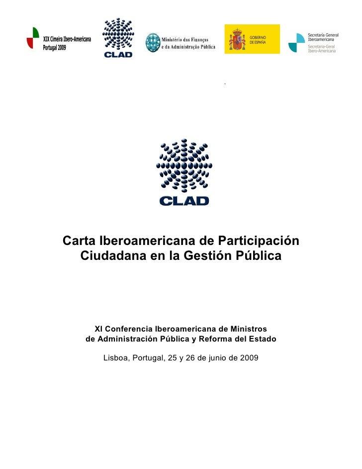 16. carta iberoamericana de participación ciudadana