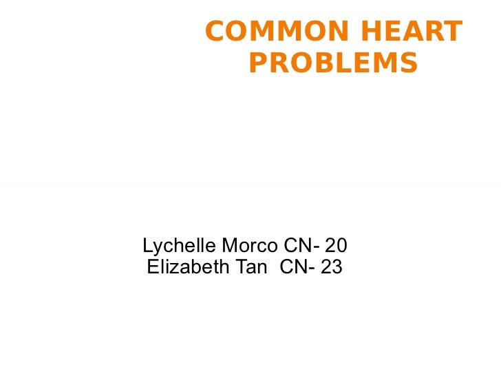 16. common heart problems