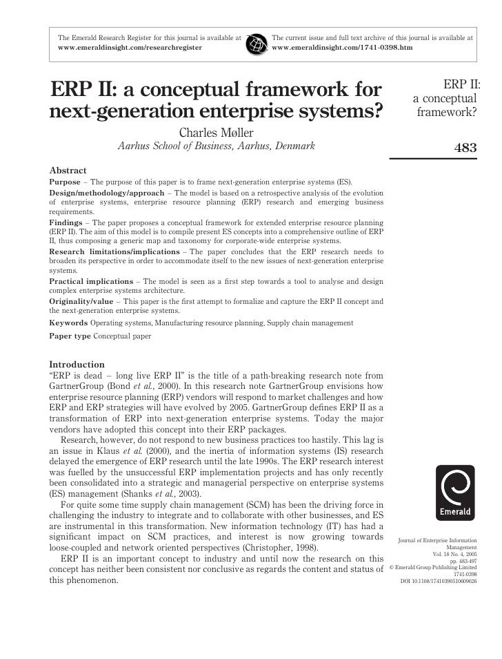 16. Erp Ii A Conceptual Framework For Next Generation Enterprise Systems