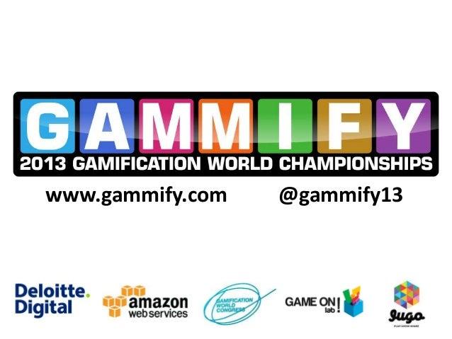 GWC2013 - Johann Odou - Gamification World Championships
