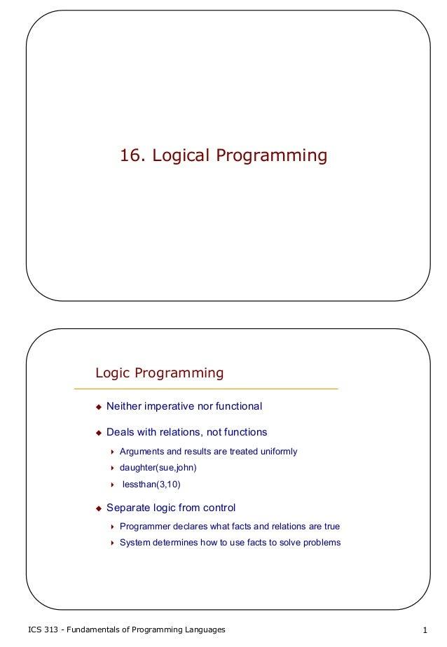 16 logical programming