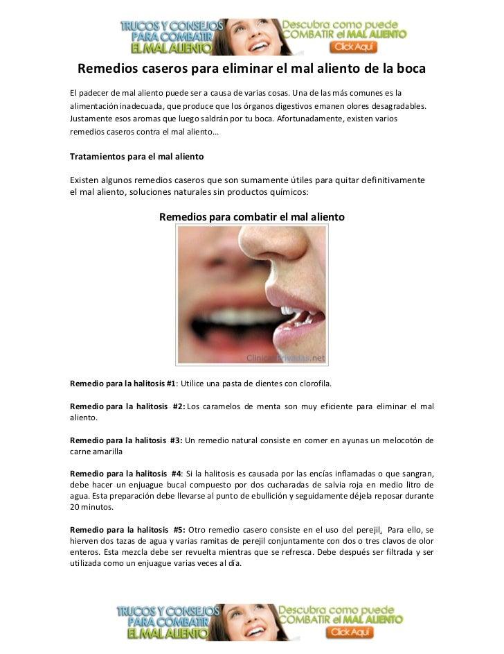 Remedios caseros para combatir el mal aliento de la boca - Sequedad de boca remedios naturales ...