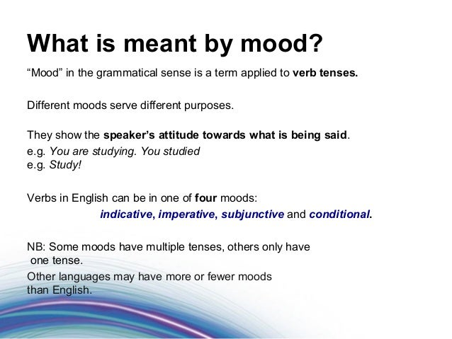 grammatical mood and subjunctive mood