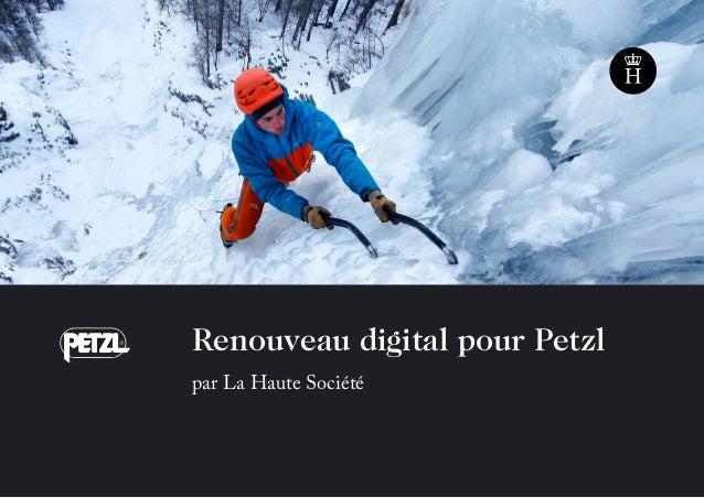 Renouveau digital pour Petzl par La Haute Société