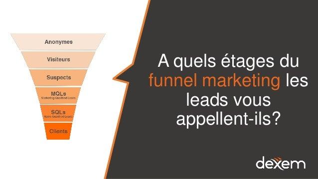 A quels étages du funnel marketing les leads vous appellent-ils?