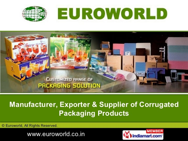 Manufacturer, Exporter & Supplier of Corrugated Packaging Products