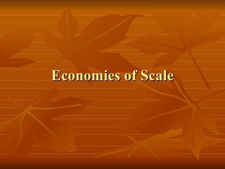 Economies Of Scaleppt
