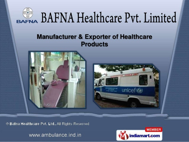 Manufacturer & Exporter of Healthcare              Products