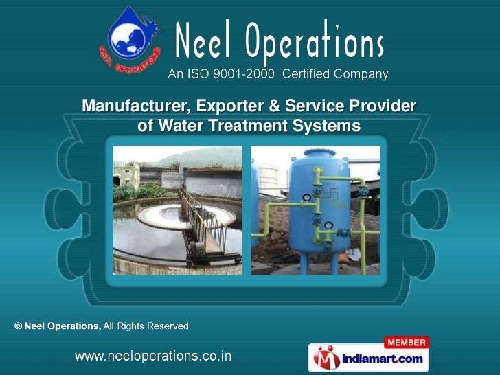 Neel Operations  Maharashtra  India