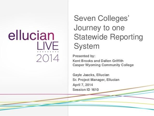 Ellucian Live 2014 Presentation on Reporting and BI