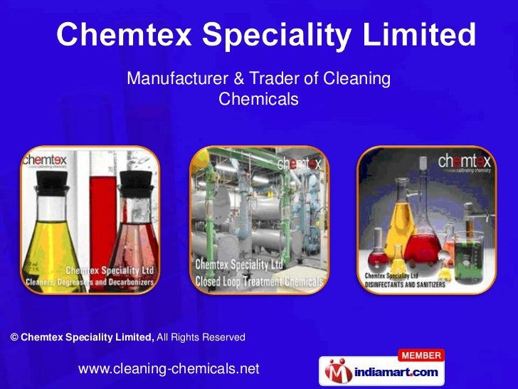 Manufacturer & Trader of Cleaning                                   Chemicals© Chemtex Speciality Limited, All Rights Rese...