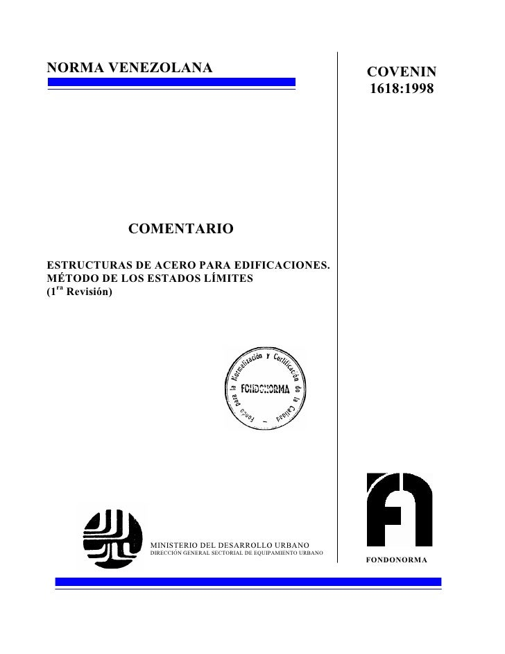 1618 1998 C Norma Estructura De Acero Comentario