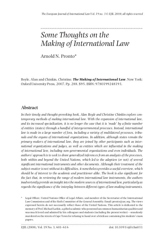 The European Journal of International Law Vol. 19 no. 3 © EJIL 2008; all rights reserved                 ....................
