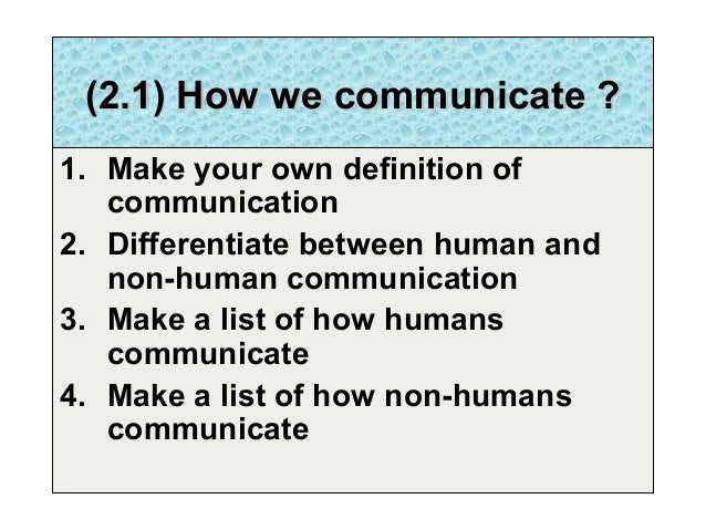 defination of communication