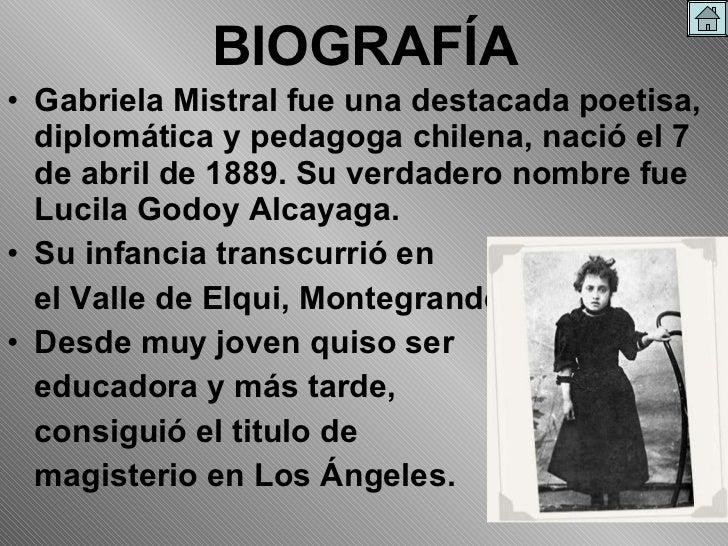 Gabriela Mistral verdadero nombre