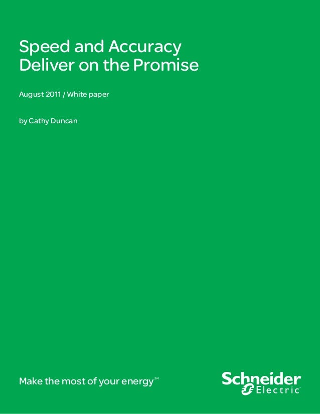 [White Paper] Speed and Accuracy Deliver on the Promise