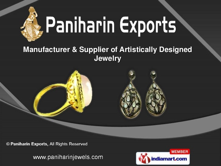 Manufacturer & Supplier of Artistically Designed                  Jewelry
