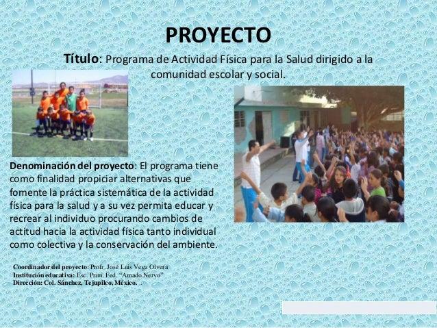 165 programa de actividad f sica para la salud dirigido a for Proyecto de cafeteria escolar