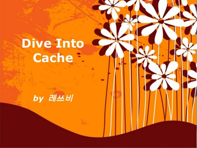 Page 1 Dive Into Cache by 레쓰비
