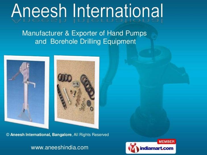 Aneesh International  Karnataka  india