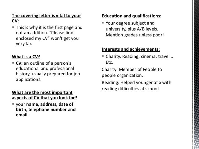 How to write a successful CV?