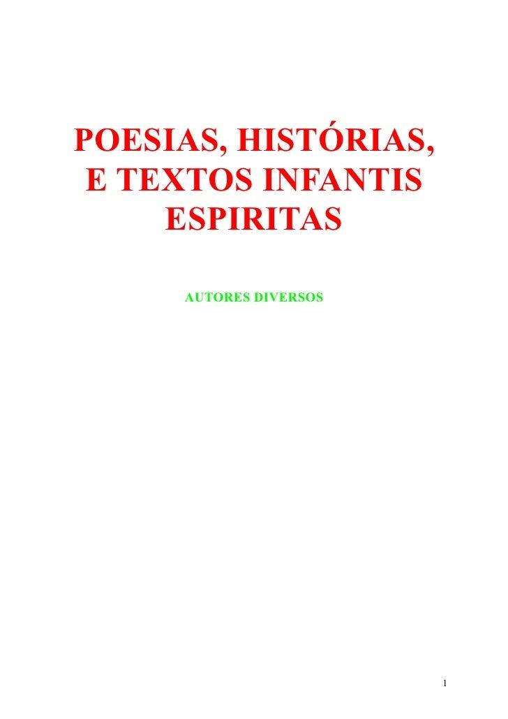16810620 Espiritismo Poesias E Historias Infantis