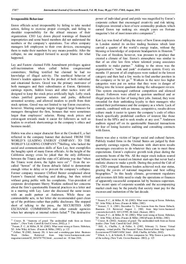enron 2 essay The enron scandal accounting print reference this  disclaimer:  2001 the inquiry had upgraded into a formal investigation and on december 2, 2001 enron filed for bankruptcy it was an event that will always be remembered as one of the most disastrous events in the financial world  if you are the original writer of this essay and no.