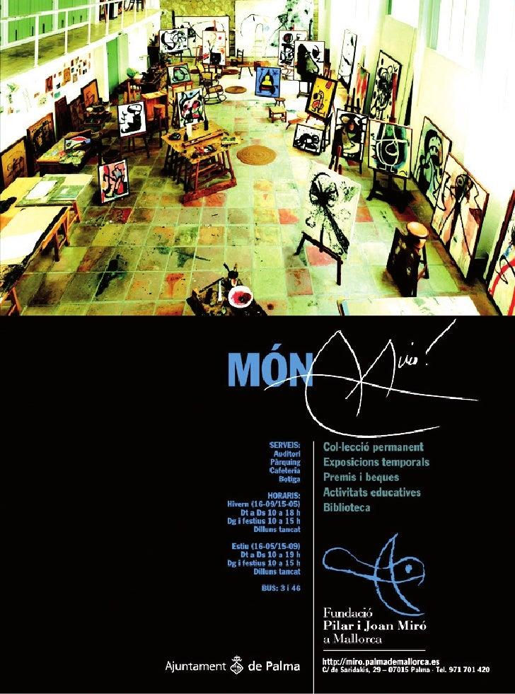 Fundació Pilar i Joan Miró | Publicidad