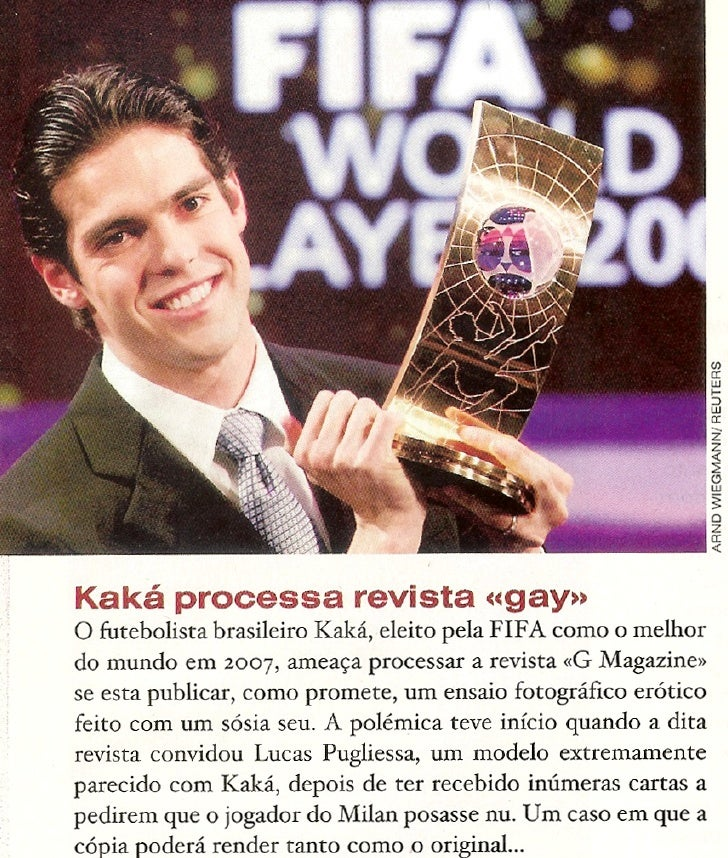 Kaká processa revista gay