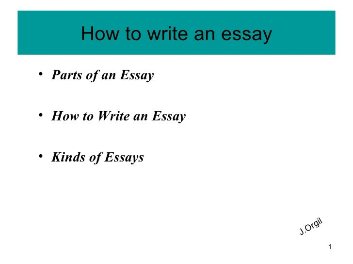 parts of a how to essay The three parts of the essay your essay will have three main parts: 1 introduction: the introduction should be one paragraph it should introduce the topic and main idea and preview the rest of your essay the introduction will also include your thesis statement 2 body: the body is generally made up of three paragraphs.