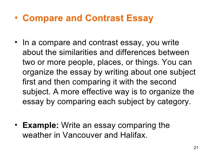 2 ways to write a compare and contrast essay Compare and contrast essay tips to use when writing your comparison essay here you'll find the words to use for comparing and contrasting, the different ways one can write an essay to compare and contrast the subjects etc.