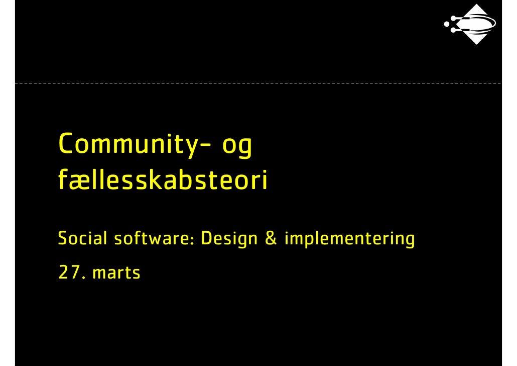 ITU - Social software: 16 Faellesskab